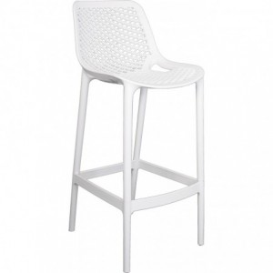 Tabouret de bar Air design polypropylène  blanc