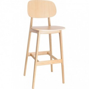 Tabouret de bar Morgan bistrot bois chene naturel