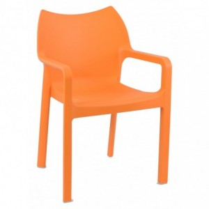 Fauteuil de terrasse Diva design polypropylene  orange