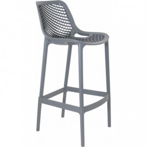 Tabouret de bar Air design polypropylene  gris