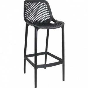 Tabouret de bar Air design polypropylene  noir