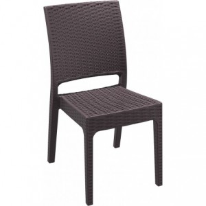 Chaise Extérieur Chaise Florida polypropylene marron