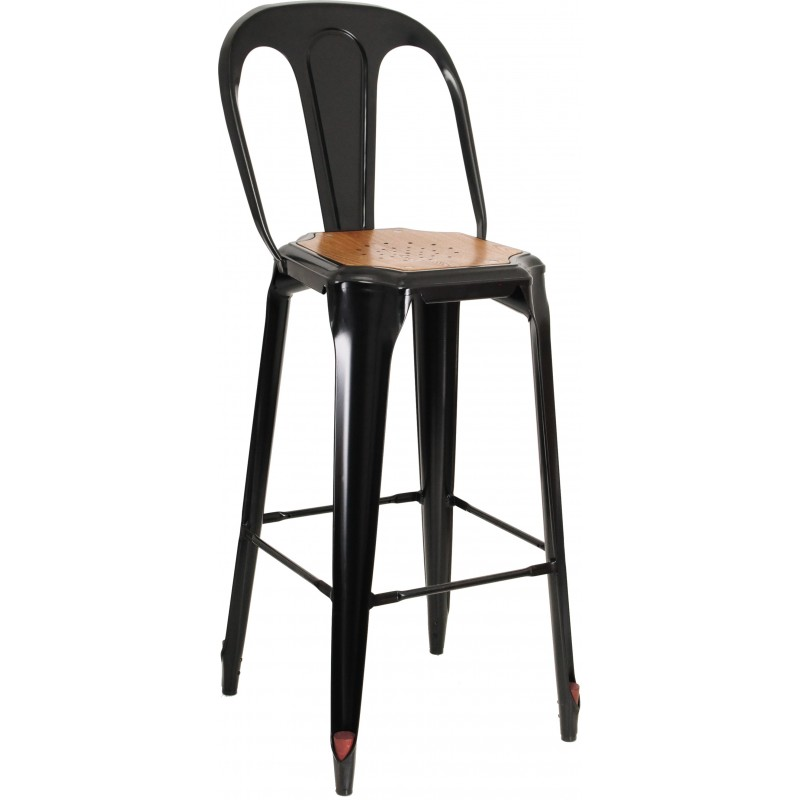 Barstool Of Bar Atelier Industrial Steel Black
