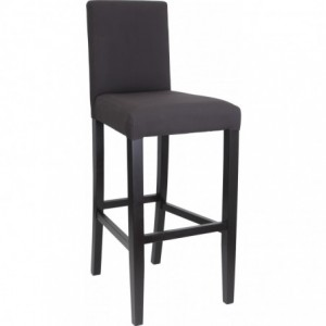 Tabouret de bar Houston  bois hetre wenge