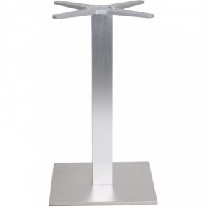 Pietement de table Oslo de-terrasse aluminium  look-inox