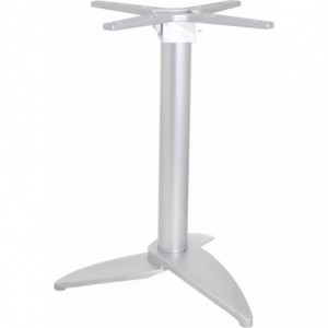 Pietement de table Leaf encastrable et basculant aluminium  gris