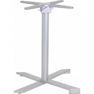 Pietement de table Verona encastrable et basculant aluminium  gris