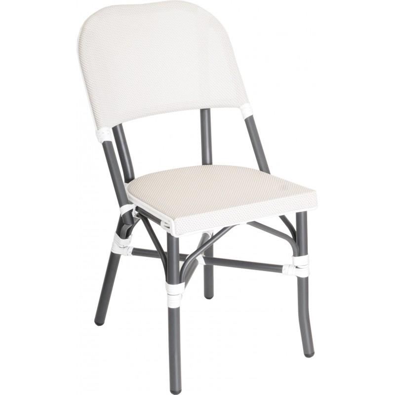 Chaise Extérieur Chaise Tequila aluminium anthracite toile-textiléne ecru