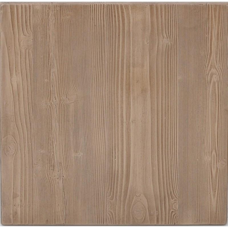 Plateau de table extérieur Plateau carre 56x56 Sarcelles composite bois naturel