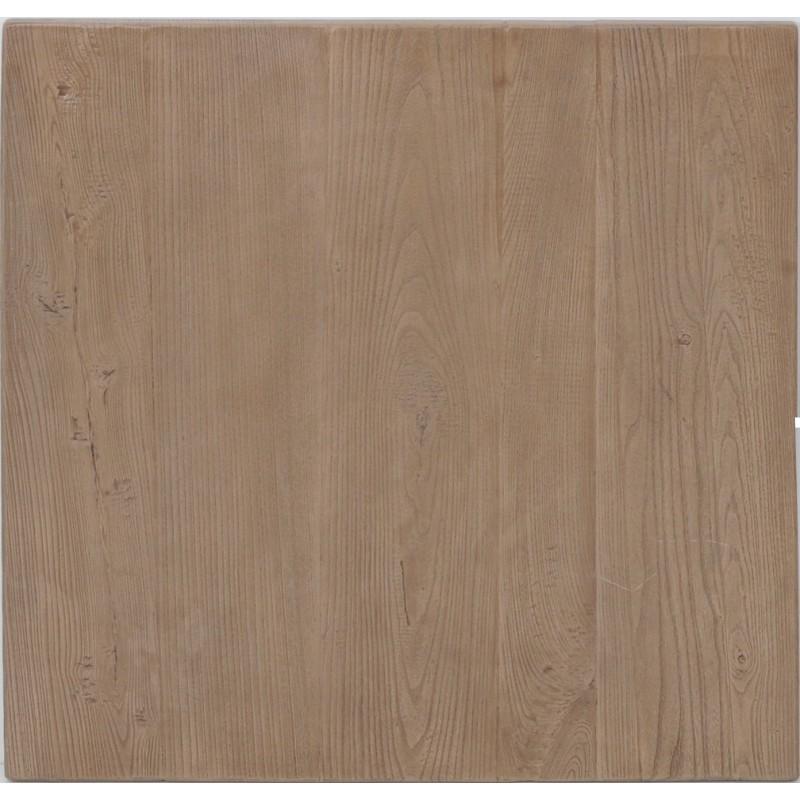 Plateau de table extérieur Plateau carre 70x70 Sarcelles composite bois naturel