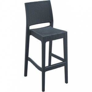 Tabouret de bar Jamaica design polypropylene  anthracite