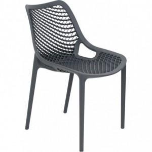 Chaise de terrasse Air design polypropylene  gris