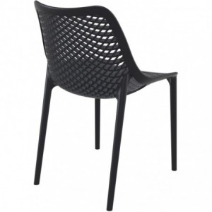 Chaise de terrasse Air design polypropylene  noir