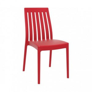 Chaise de terrasse Soho design polypropylene  rouge