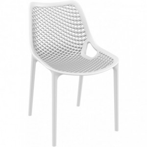 Chaise de terrasse Air design polypropylene  blanc