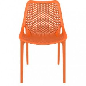 Chaise de terrasse Air design polypropylene  orange